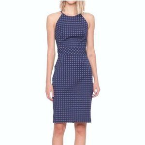 Banana Republic Gingham Halter Sheath Dress